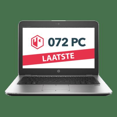 Productafbeelding van voorkant HP EliteBook 820 G2 laptop met tekst 'laatste' in beeld