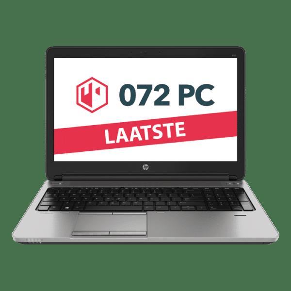 Productafbeelding van voorkant HP ProBook 650 G1 laptop met tekst 'laatste' in beeld