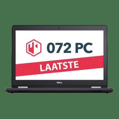 Productafbeelding van voorkant Dell Latitude E5570 laptop met tekst 'laatste' in beeld