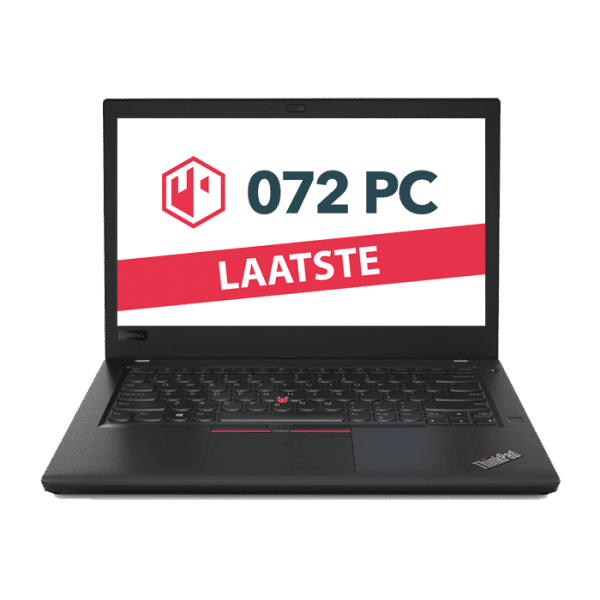 Productafbeelding van voorkant Lenovo ThinkPad T470 laptop met tekst 'laatste' in beeld