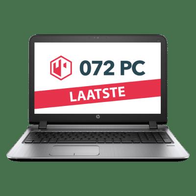 Productafbeelding van voorkant HP ProBook 450 G3 laptop met tekst 'laatste' in beeld