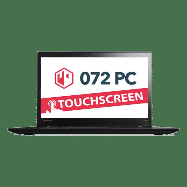 Productafbeelding van voorkant Lenovo ThinkPad T460S laptop met tekst 'touchscreen' in beeld