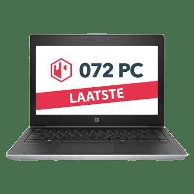 Productafbeelding van voorkant HP ProBook G5 laptop met tekst 'laatste'in beeld