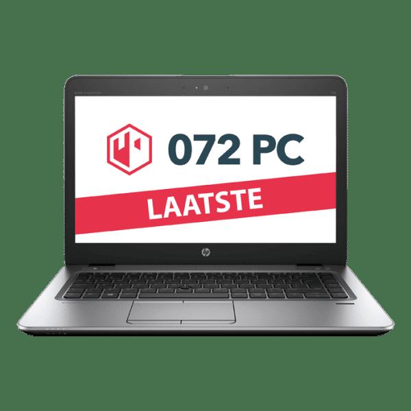 Productafbeelding van voorkant HP EliteBook 745 G3 laptop met tekst 'laatste' in beeld