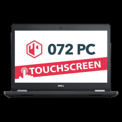 Productafbeelding van voorkant Dell Latitude E5470 laptop met tekst 'touchscreen' in beeld