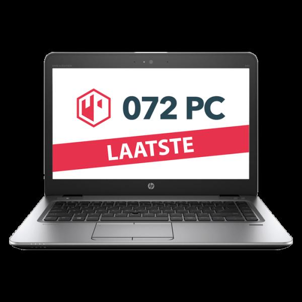 Productafbeelding van voorkant HP EliteBook 840 G3 laptop met tekst 'laatste' in beeld