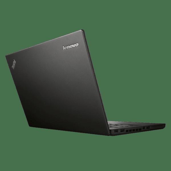 Productafbeelding van zij- en achterkant Lenovo ThinkPad T450 laptop met tekst 'laatste' in beeld